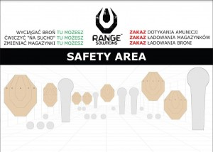Baner Safety Area 50x70 za darmo do wydruku